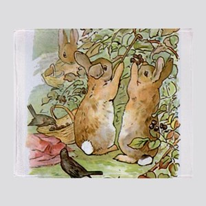 Beatrix Potter - Peter Rabbit : Rabb Throw Blanket